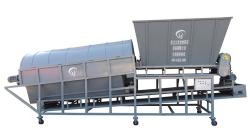 Raw material drum screening machine